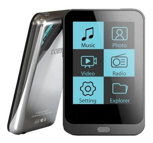 Coby 4 Gb Reproductor De Mp3 Y Video (con Radio Fm Negro