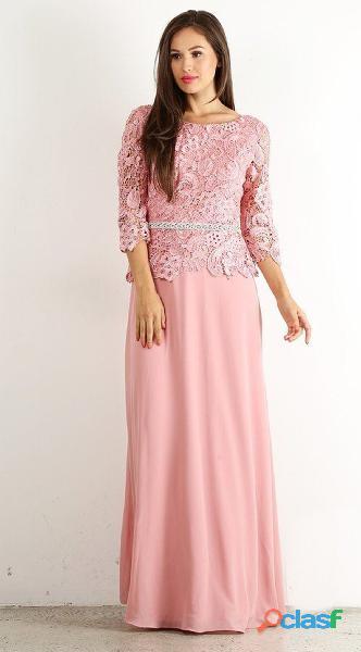 Alquiler de vestidos de mujer para fiesta en color palo de
