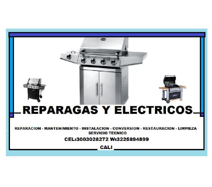 REPARACION DE ASADORES A GAS - CEL: 3003028272