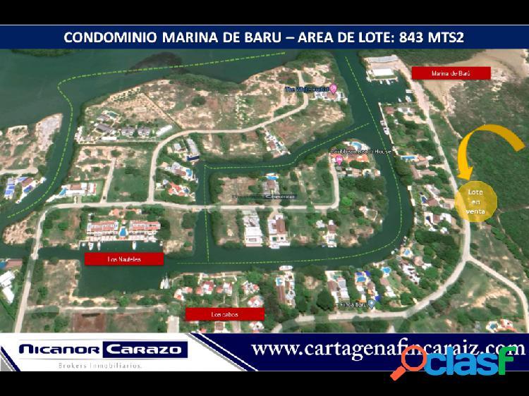 Vendemos lote condominio Marina de Baru Cartagena