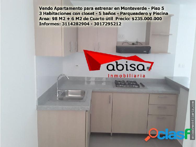 Apartamento para Estrenar en Monteverde
