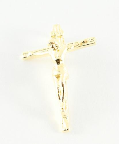 Dije Cruz Madero Pequeño_oro Laminado 18k