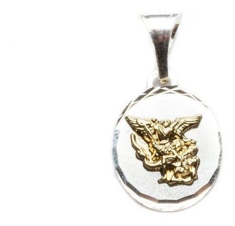 Dije San Miguel Arcángel Oro Y Plata 925
