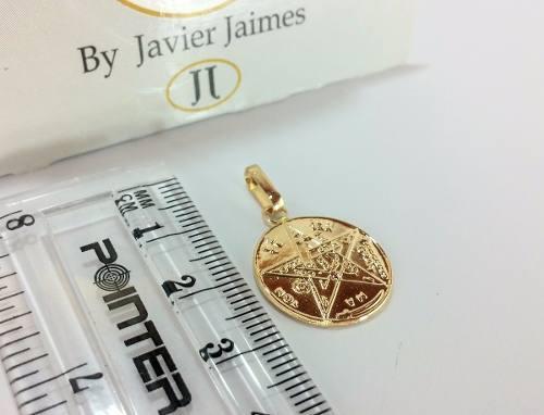 Medalla Pentagrama Tetragramaton Oro 18k 750 Despacho 3 Dias