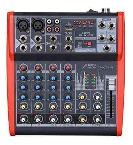 Audio2000 S Amx7312 Mezclador Profesional De Seis Canales De
