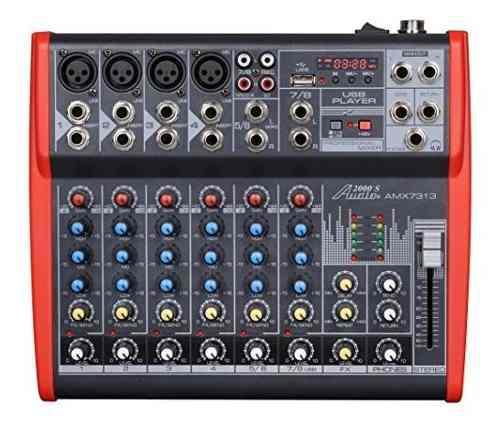 Audio2000 Y Apos; S Amx7313 Mezclador Profesional De Ocho Ca