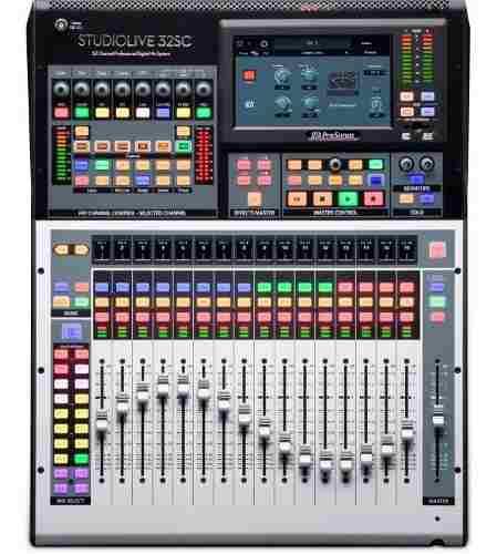 Mezclador Con Interfaz 32s Grabación Presonus Studiolive