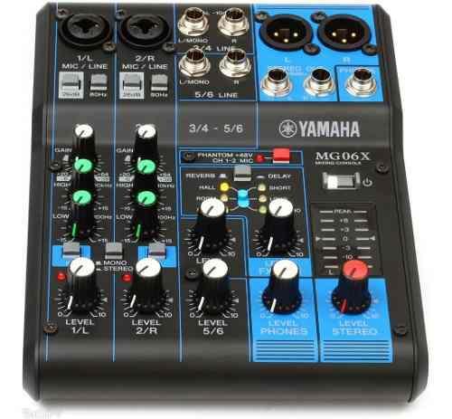 Mixer Yamaha Mg06x Mezclador De 6 Entradas Con Efectos.
