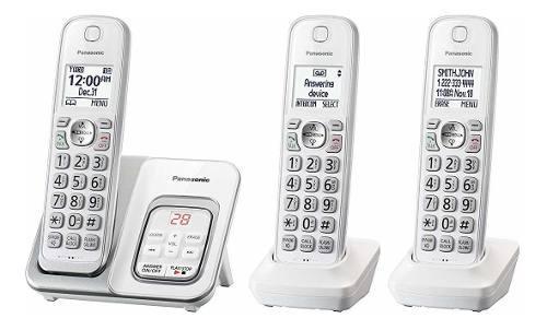 Sistema De Teléfono Inalámbrico Panasonic 3 Auriculares