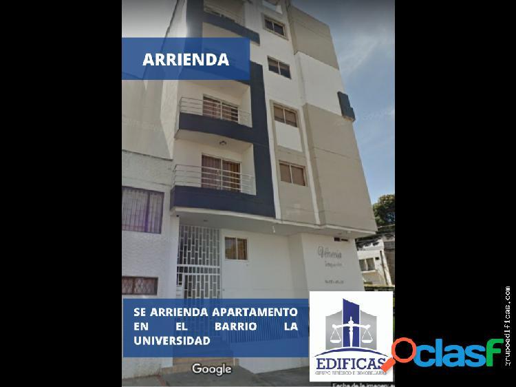 ARRIENDO APARTAMENTO EN LA UNIVERSIDAD