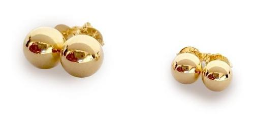 Arete Oro Laminado 18 K - Balín #8