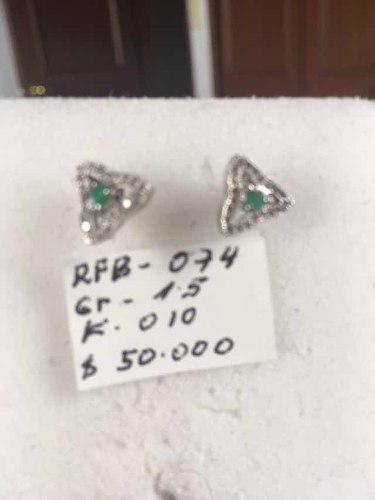 Aretes En Plata 925 Y Esmeraldas Certificadas