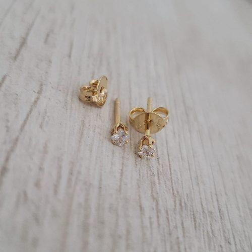 Oro Laminado Topo Mini Circon - Oro Laminado 18 K