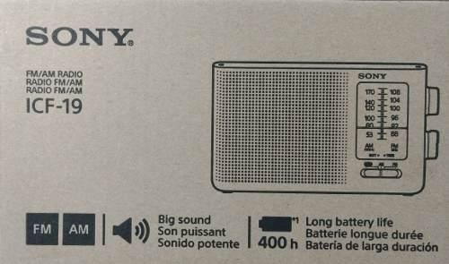 Radio Sony Icf 19 Am Fm Transistor De 3 Batería Tipo D