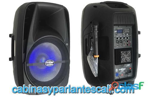 Cabina de 15 pulgadas seven 7 audio de de alta potencia en