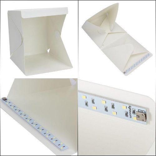 Mini Foto Estudio Portátil Plegable Caja Luz Led Fotografia