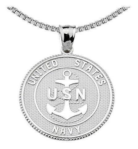 Collar Naval Con Colgante De Plata De Ley Con La Oracion Ben