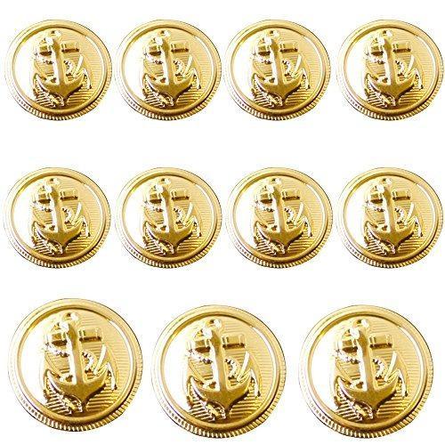 Conjunto De Botones De Metal 11 Piezas Naval Escudo Escudo