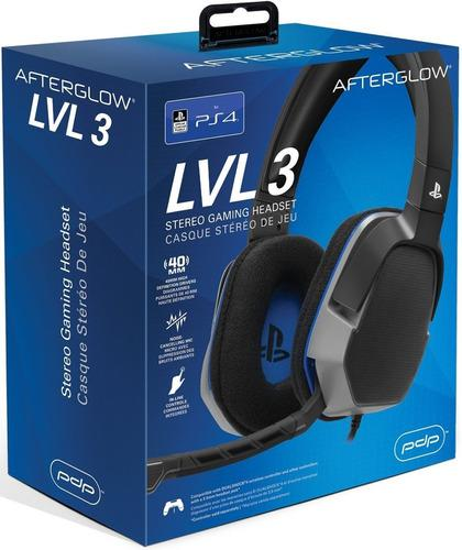 Diadema Audifonos Headset Playstation Lvl 3 Ps4 Negro