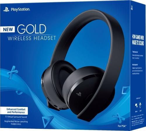 Diadema Audifonos Playstation 4 New Gold Negra Ps4