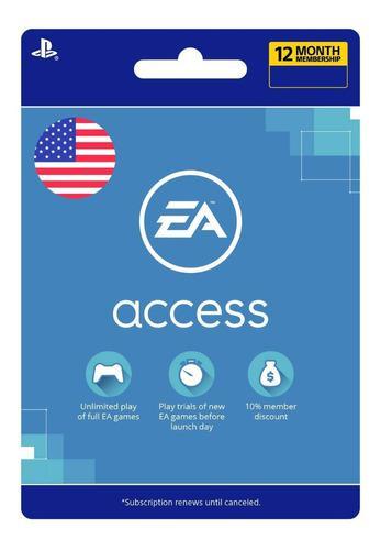 Ea Access Pase 12 Meses Playstation 4 Psn Membresia 1 Año