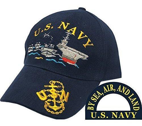 Eagle Emblems Gorra De Bola Bordada De La Flota Naval De Los