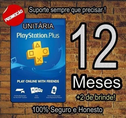 Playstation Psn Plus 12 Meses 1 Año 365 Dias Ps4 + Juegos