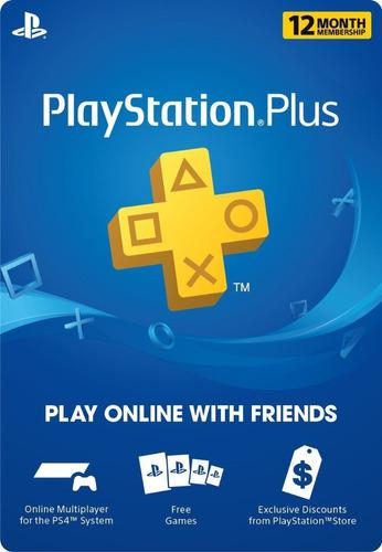 Playstation Psn Plus 12 Meses Promocion 1 Año Ps4 + Juegos