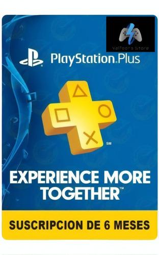 Playstation Psn Plus 6 Meses 182 Dias Ps4+juegos