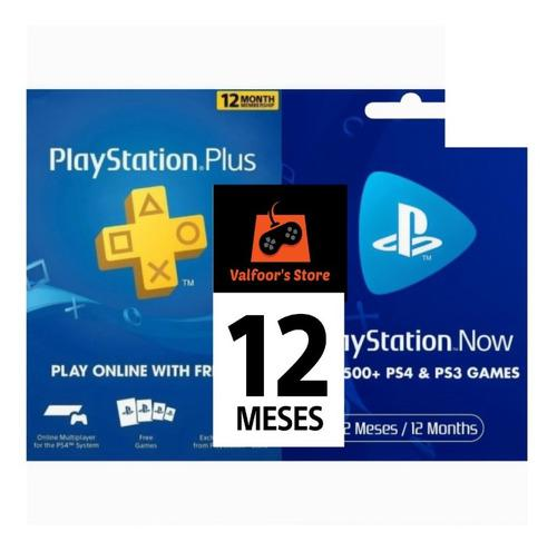 Playstation Psn Plus / Now 12 Meses 1 Año Ps3 Ps4 + Juegos