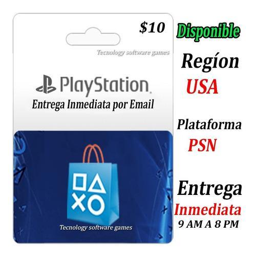 Tarjeta Psn 10 Usd Playstation Codigo