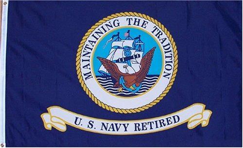 Us Navy 3x5 Bandera Retirada Nueva 3x 5 Bandera Usn Naval
