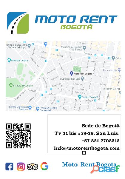 Alquiler de motos y scooter Bogota