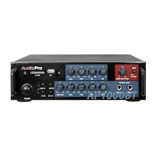 Amplificador Bluetooth Ap1000bt Audiopro Negro Dos Canales