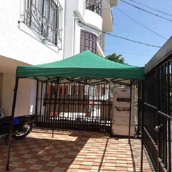 Carpa Plegable Parasol Acero 2x2 Metros