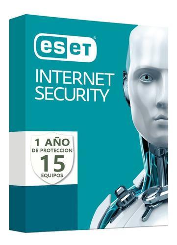 Eset Internet Security V13 / Licencia Original 15 Pc 1 Año