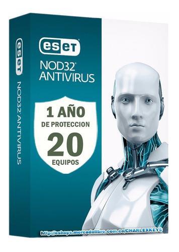 Eset Nod32 Antivirus V13 / Licencia Original 20 Pc 1 Año