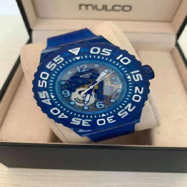 Reloj Swatch Plastico Azul nuevo para caballero