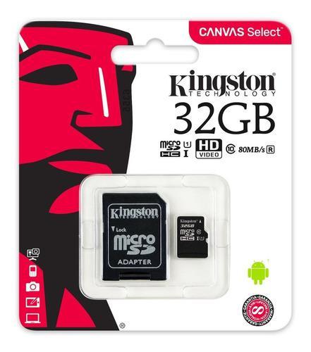 Memoria Kingston Micro Sd Clase 10 De 32 Gb Sdcs/32gb