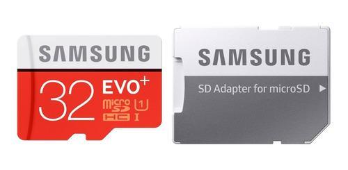 Micro Sd Memoria Samsung Evo Plus 32 Gb Clase 10 95 Mbs