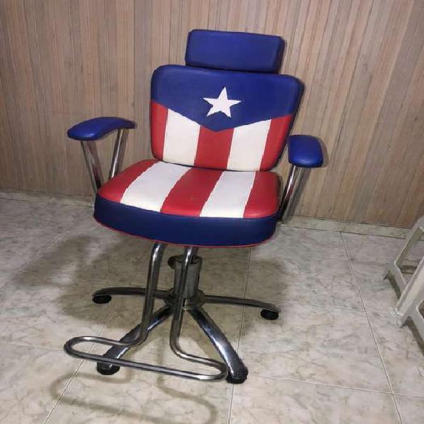 Se vende silla de barberia en perfecto estado poco uso