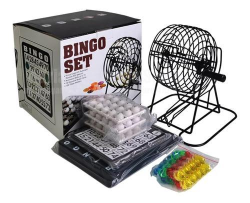 Bingo Set Familiar Juego Metalico 18 Tablas 150 Fichas Tapar