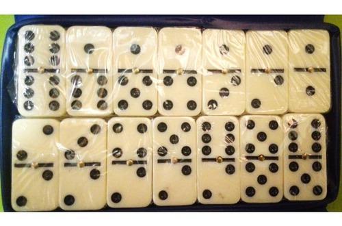 Domino Mediano Doble 6 Caja Plástica Juego De Mesa Set Of