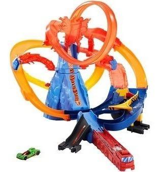 Hotwheels Pista Escape Del Volcan Original De Mattel