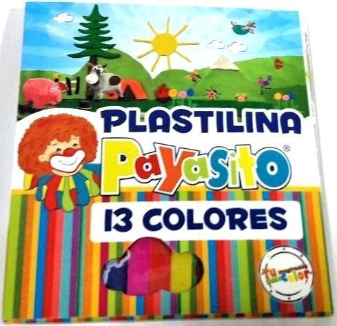 Caja De Plastilina Larga Marca Payasito X 13 Unidades