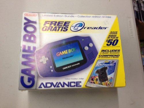 Gameboy Advance Indigo System E-reader Paquete De Edición