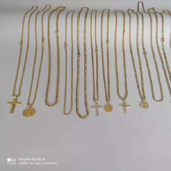 Cadenas en oro 18k ley 750 italy cubano, lazo ,3 en 1, gucci