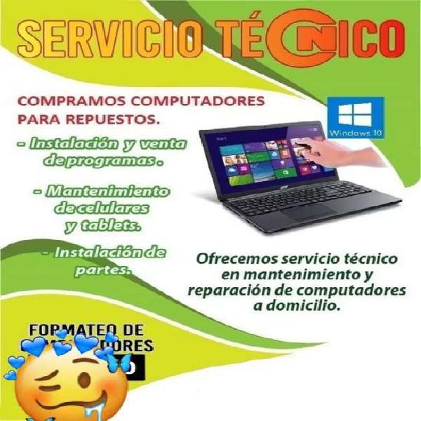 FORMATEO DE COMPUTADORES A DOMICILIO