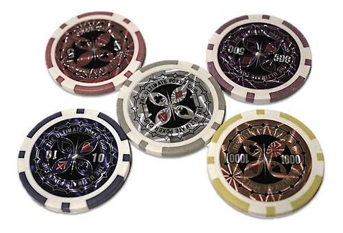 Fichas Poker Lujo Peso Metalizadas 8225 Casino Juego Cartas