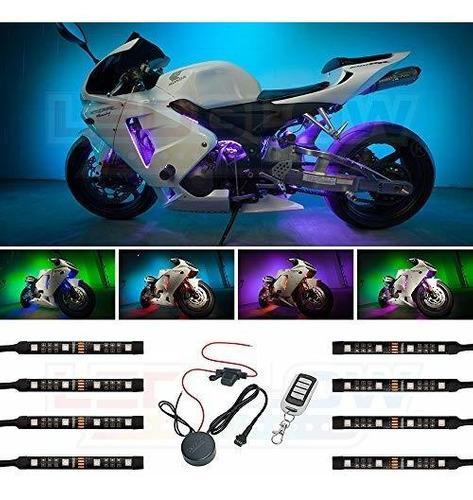 Kit De Luces De Led Led Para Motocicleta 8 Unidades Diseño